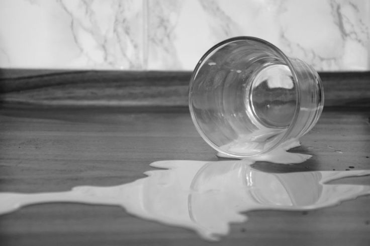 Weekly Photo Challenge: Variations on a Theme. Spilled Milk. © trashbus ǀ Renata Britvec, 2018