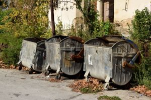 Trash Cans. Fall. Short Hellos & Long Goodbyes. LipnicaTuzla, BiH. 2017 © Trashbus ǀ Renata Britvec