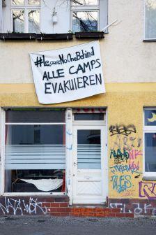 Evacuate Camps. Left Behind. Berlin, 2020. © Trashbus ǀ Renata Britvec