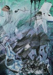 Partial dream. Mixed media on paper. 21 x 29,7 cm. © Trashbus ǀ Renata Britvec, 2020