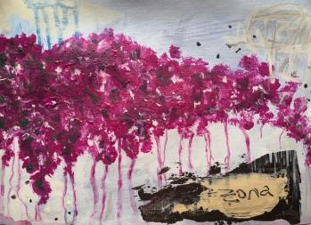 zona. Acrylic on paper. 21 x 29,7 cm. © Trashbus ǀ Renata Britvec, 2020