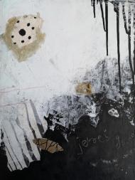 2020, Shit & Glory. Mixed media on canvas panel. 30 x 39 cm. © Trashbus ǀ Renata Britvec, 2020