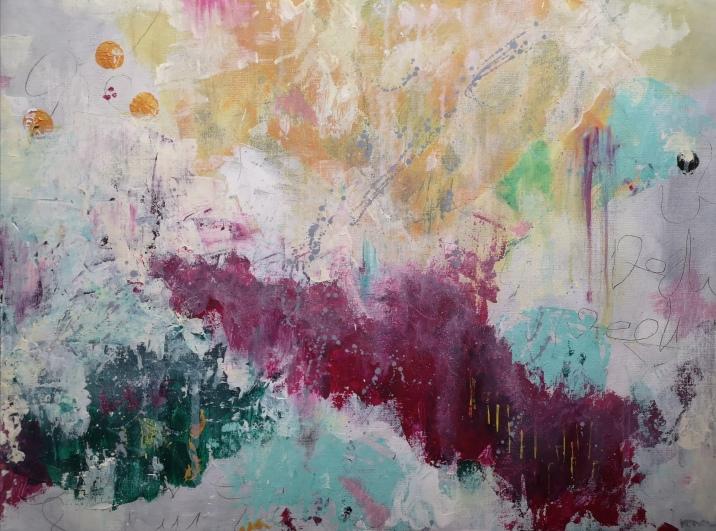LJT Acrylic & oil pastel on paper. 56 x 42 cm. © Trashbus ǀ Renata Britvec, 2021